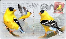 American Goldfinch Vintage Series Tempered Glass Cutting Board