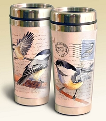 Chickadee Vintage Series 16oz Steel Travel Mug