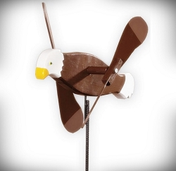 Whirly Bird Bald Eagle Spinner