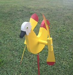 Whirly Bird Yellow Chicken Spinner