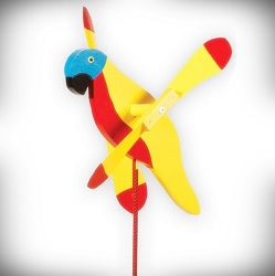 Whirly Bird Sunshine Parrot Spinner