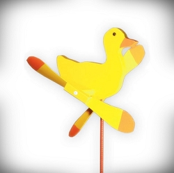 Whirly Bird Yellow Duck Spinner