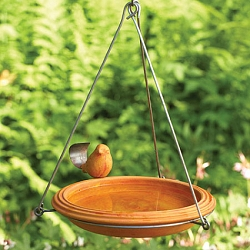 Round Ceramic Hanging Bird Bath Spice