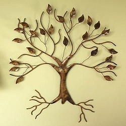 Flamed Copper Finish Tree Wall Mount