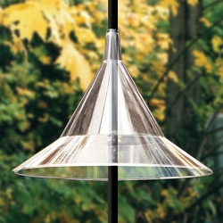 Squirrel Away Pole Baffle Clear