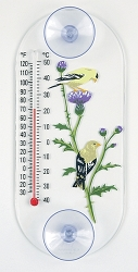 Goldfinch Pair Original Window Thermometer