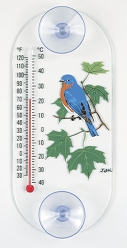Bluebird Maple Original Window Thermometer