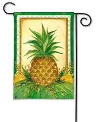 Pineapple and Pears Garden Flag