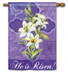 Easter Lily House Flag