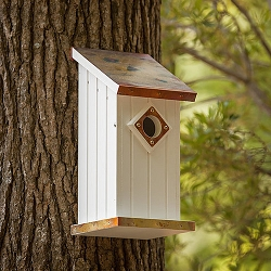 Flamed Copper Top Bluebird House