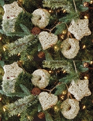 Holiday Seed Garland Safflower Ornament Gift Box 2/Pack