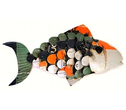 Recycled Metal Fish Wall Decor