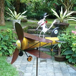 Aviator Spike Whirligig w/Pole