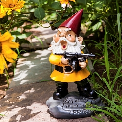 Angry Little Gnome Garden Gnome