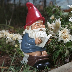 Gnome on a Throne Garden Gnome