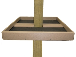 Birds Choice Recycled 4X4 Post Mount Seed Catcher Platform