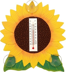 Sunflower Window Thermometer Small