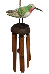 For The Birds Hummingbird Bamboo Windchime
