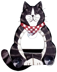 Black and White Cat Body Window Feeder