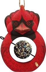 Cardinal Fruit and Seed Ball Feeder
