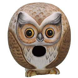 Owl Ball 3-D Birdhouse