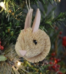 Brushart Bunny Bauble Ornament
