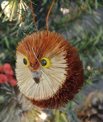 Brushart Owl Bauble Ornament