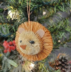 Brushart Lion Bauble Ornament