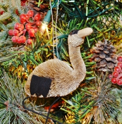 Brushart Bird Ornament Heron
