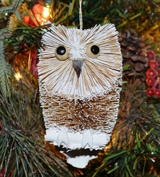 Brushart Bird Ornament Snow Owl