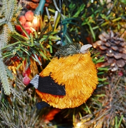 Brushart Bird Ornament Oriole