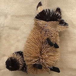 Brushart Raccoon Ornament