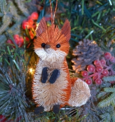 Brushart Fox Ornament