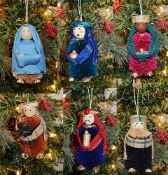 Brushart Nativity Ornament Set of 6