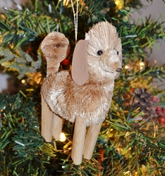 Brushart Dog Ornament Poodle