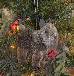 Brushart Dog Ornament Scottie