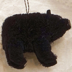 Brushart Black Bear Ornament