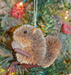 Brushart Grey Squirrel Ornament