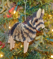 Brushart Zebra Ornament