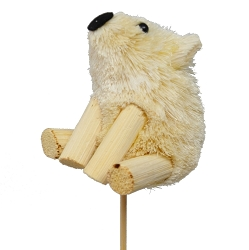 Brushart Polar Bear on a Stick