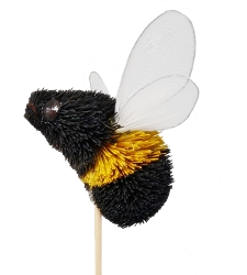 Brushart Bumble Bee on a Stick