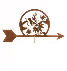 Butterfly and Flowers Weathervane Top