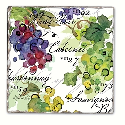 Vin 27 Tumbled Tile Coaster Set of 4