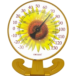 Decor Convertible Large 10 Inch Dial Thermometer Sunflower