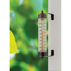 Decor Grande View Thermometer Bronze Patina