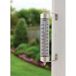 Decor Grande View Thermometer Satin Nickel
