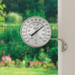 Decor Dial Thermometer Satin Nickel