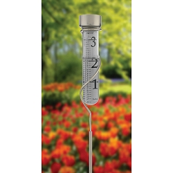 Decor Grande View Rain Gauge Satin Nickel