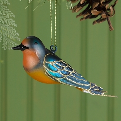 Cobane Studio Barn Swallow Glass Ornament