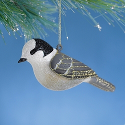Cobane Studio Gray Jay Blown Glass Ornament